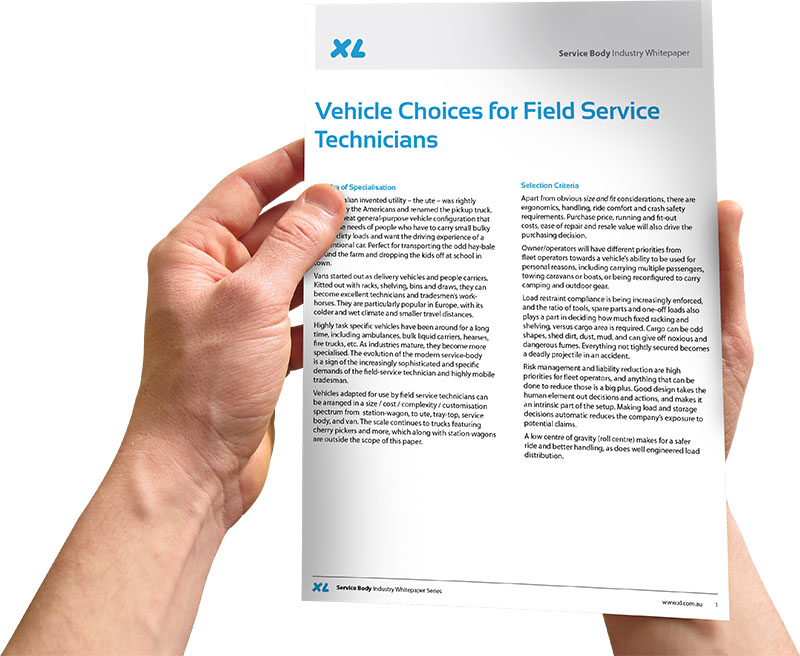 Whitepaper Vehicle Choices for Field Service Technicians